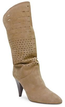 Isabel Marant Lurrey Laser-Cut Suede Boots