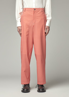 Burberry Men's Casual Trouser Pants in Red Pattern Size 46 Cotton/Elastane/Cupro Lining
