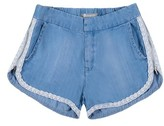 Tractr Girl's Lace Trim Shorts