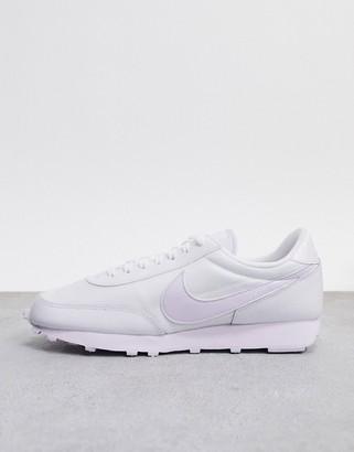 Nike Daybreak trainers in tonal white