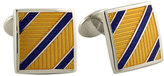 David Donahue Men's 'Diagonal Stripe' Cuff Links