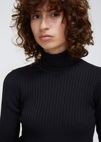 Hope Black Reed Turtleneck