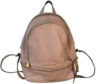 Michael Kors Rhea Pink Leather Backpacks