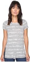 Kensie Speckled Striped Tee Top KS2K3467 Women's T Shirt