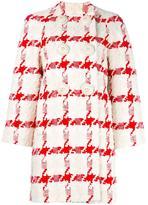 Alexander McQueen houndstooth bouclé coat