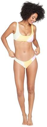L-Space Hand Tie-Dye Sandy Bottoms Classic (Diagonal Sunburst) Women's Swimwear