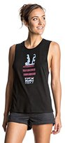 Roxy Juniors' Peace Hand Muscle Crew Tank Top