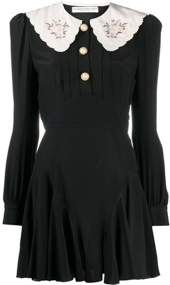 Alessandra Rich Peter Pan Collar Mini Dress