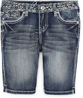 Revolution by Revolt Embellished Denim Shorts - Girls 7-16 and Plus