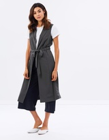 Miss Selfridge Sleeveless Duster Coat
