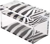 Acrylic Zebra Treasure Box