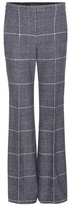Calvin Klein Collection Jadine Plaid Wool Trousers