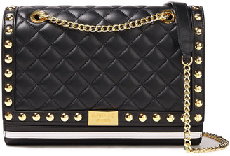 Boutique Moschino Studded Quilted Leather Shoulder Bag