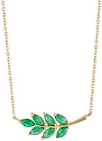Finn Women's Emerald Leaf Charm Necklace