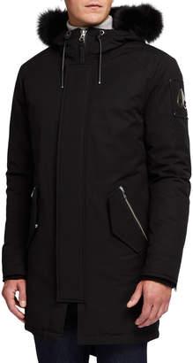 Moose Knuckles Men's Oakbank Parka Coat with Fur Trim