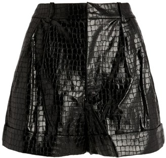 Alice + Olivia Alice+Olivia Conry Vegan Leather Cuffed Shorts