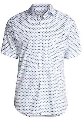 Peter Millar Men's Catch Of The Day Geo-Print Shirt