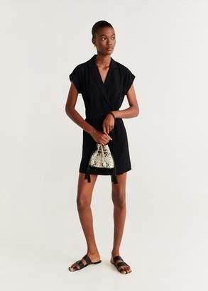 MANGO Bow lapels dress