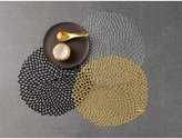 Chilewich Dahlia Round Floral Placemat, 14.25 by 15.25-Inch, Gold