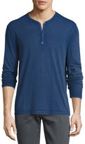 John Varvatos Long-Sleeve Henley T-Shirt, Blue