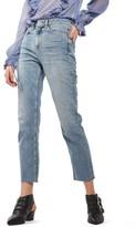 Topshop Women's Moto Raw Hem Straight Leg Jeans
