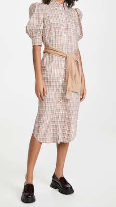 Derek Lam 10 Crosby Luis Plaid Dress With Waist Tie
