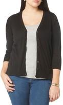 Evans Plus Size Women's Button Front Cardigan