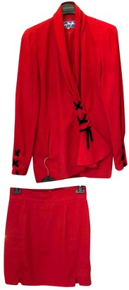 Thierry Mugler Red Polyester Jackets