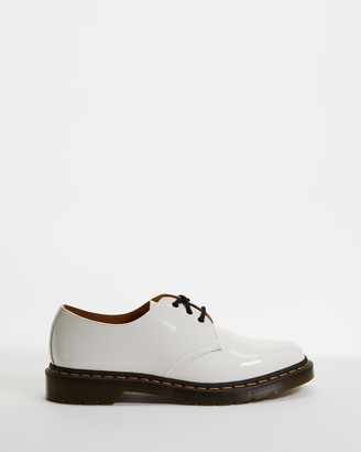 Dr. Martens Women's White Brogues & Loafers - 1461 Patent Oxford - Women's - Size 6.5 at The Iconic