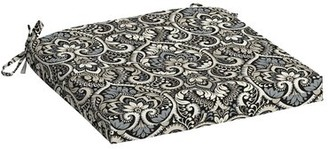 "Bungalow Rose Lapis Canvas Acrylic Outdoor Seat Cushion Fabric: Black, Size: 2.5"" H x 19"" W x 18"" D"