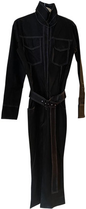 Orseund Iris Black Cotton Jumpsuits