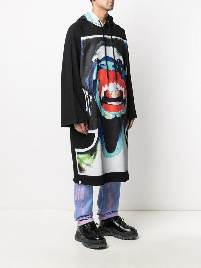 Thumbnail for your product : Charles Jeffrey Loverboy Scream graphic-print oversize hoodie
