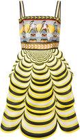 Mary Katrantzou Pandora scalloped dress - women - Silk - 8