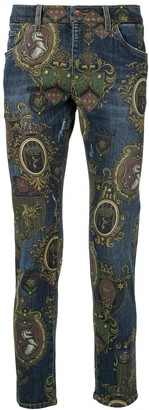 Dolce & Gabbana baroque print jeans