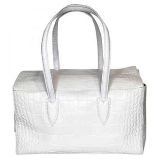 Max Mara White Leather Handbags