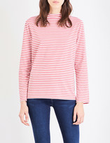 MiH Jeans Emelie striped cotton-jersey top