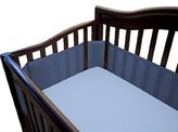 BreathableBaby Mesh Crib Bumper - Breathable, Hypoallergenic Fabric (Navy)