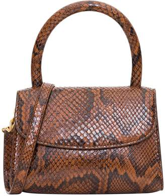 BY FAR Mina Handbag In Croco Embossed Leather