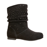 Steve Madden Girl's Shorty Studded Suede Boot