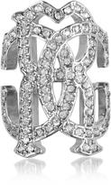 Roberto Cavalli RC Icon Silvertone Ring w/Crystals