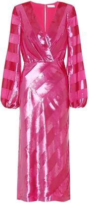 Rebecca Vallance Maison striped velvet dress