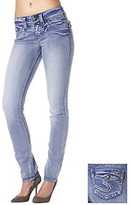 Silver Jeans Co. Blue Suki Curvy Fit Skinny Jeans With Bling Flap Pocket