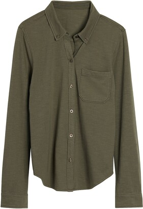 Faherty Seasons Knit Button-Up Shirt
