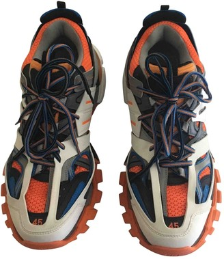 Balenciaga Track Orange Suede Trainers