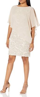 Sandra Darren Women's 1 PC Sleeveless Chiffon Overlay Soutache Dress