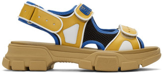 Gucci Yellow and Black Aguru Sandals