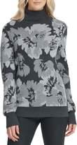 DKNY Floral-Print Turtleneck Sweater