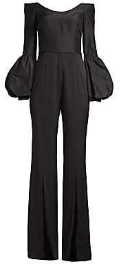Flor et. al Women's Katherine Off-The-Shoulder Puff Sleeve Jumpsuit - Size 0