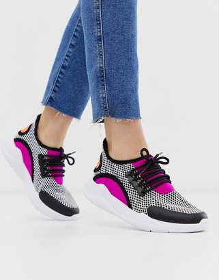 Asos Design DESIGN Diversion netted sneakers in multi