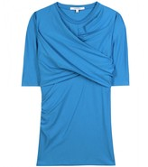 Carven TWISTED DRAPE JERSEY TOP